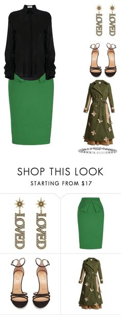 """Untitled #716"" by samson-90 on Polyvore featuring Gucci, Aquazzura, HUISHAN ZHANG and Yves Saint Laurent"