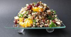 Quinoa, lentils, tangerines and almonds salad. Quinoa Dishes, Healthy Recepies, Healthy Food, Lentil Salad, Potato Dishes, Cold Meals, Lentils, Food Inspiration, Love Food