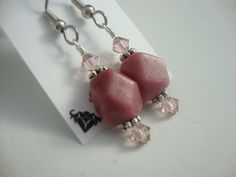 Pretty In Pink Rhodonite Earrings FREE Shipping by touchofavalon, $5.99