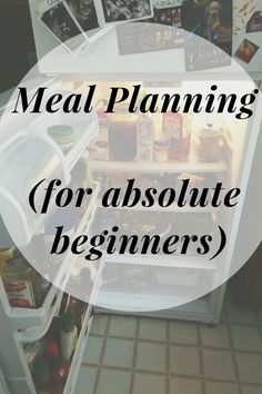 Meal planning (for absolute beginners)