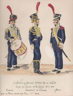 Tamburo, tenente di vascello e marinaio del corpo dei marinai dell'armata di Murat