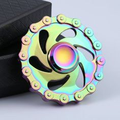 Anti Stress Rainbow Chain Wheel EDC Hand Spinner