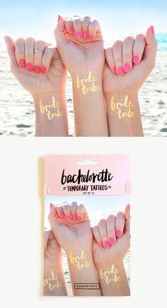 Tattoos für deine Brautjungfern als Idee für deinen Polterabend ❤ weddingbachelorette temp tattoo pack - party idea for the bridesmaids and bride!