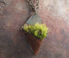 Living Jewelry Pendant Keepsake Copper Patina by Copperhead. This is so unique!!!!