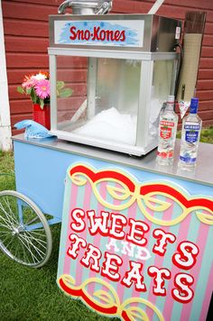 Colorful Carnival Wedding by Nashan Photographers (alcoholic snowcones!!)