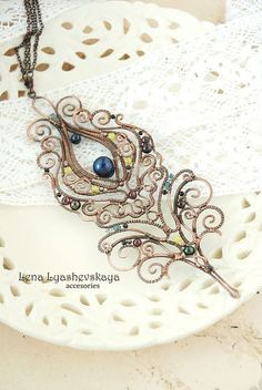 "Pendants handmade. Fair Masters - handmade pendant ""MAGIC FEATHER BIRDS."" Handmade.:"