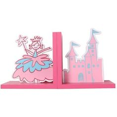 AdecoTrading Princess and Castle Decorative Wood Book Ends