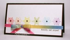 so pretty and great use of the multi colored ribbon!