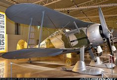 Gloster Gladiator in Finnish Air Force WWII scheme, with ski undercarriage. 278 (cn Displayed at the Swedish Air Force Museum, Linkoping - Malmen (Malmslatt) (ESCF), Sweden, October Luftwaffe, Ww2 Aircraft, Military Aircraft, Finland Air, Finnish Air Force, Cienfuegos, October 25, Fighter Pilot, Nose Art