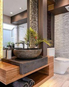 Bathroom inspiration, new bathroom ideas, bathroom colors, bathroom design Washroom Design, Bathroom Design Luxury, Modern Bathroom Decor, Modern Bathroom Design, Home Interior Design, Small Bathroom, Bathroom Sinks, Bathroom Ideas, Concrete Bathroom