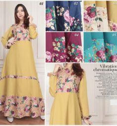 model baju-gamis-baloteli-kombinasi-katun-jepang-motif-bunga-g1136-desember-2016-2017