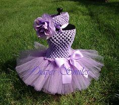 Violet tutu dress for girls! Adorable!!  Diapersmiles on Etsy