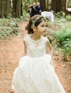 F07 Flower Girl Dress,Lace Flower Gril dress,Custom Flower Girl Dress,Girl's…