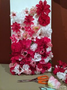 how to make silk flower wall art