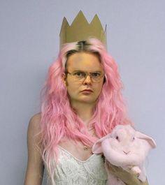 pink hair Rainn Wilson :-)