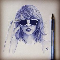 By _artistiq Taylor swift drawing by pen