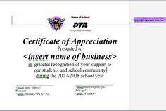 End-of-year thank you to all the businesses that have helped the PTO this year.