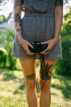 inked ink tattoos tattooed girl camera leg tattoos thinspo skinny want arm tattoos