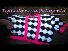 ▶ Chaqueta en crochet estilo Damero. Bárbara Langman - YouTube