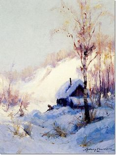 View My old cabin - Tynook, Alaska by Sydney Mortimer Laurence on artnet. Browse upcoming and past auction lots by Sydney Mortimer Laurence. American Scene Painting, Watercolor Paintings, Acrylic Paintings, Watercolors, Old Cabins, Mountain Paintings, Winter Scenes, Great Artists, All Art