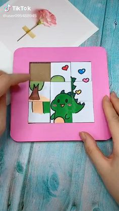 Diy Crafts Hacks, Diy Crafts For Gifts, Easy Diy Crafts, Creative Crafts, Fun Crafts, Diy Projects, Puzzle Crafts, Diy Crafts Videos, Creative Ideas