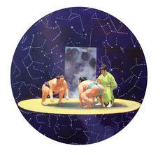 Chen Zhuo, Chikara No Yama VS Aoi No Hana, Oil on Canvas,Diameter 60cm,2013, Gallery Yang