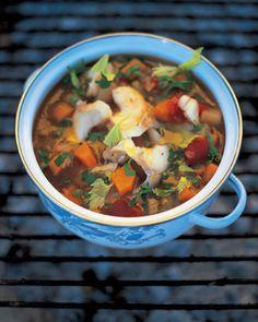 fish soup: i'll give it a go...  http://www.jamieoliver.com/recipes/fish-recipes/salt-cod-soup-zuppa-di-baccala