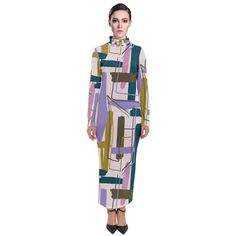 Modernist Turtleneck Maxi Dress Unique Colors, Turtleneck, Dress Up, Dresses For Work, Chic, Fabric, Cotton, Fashion, Shabby Chic