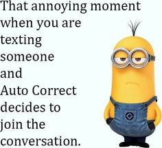 For minions lovers we got some great news… Here are 45 Very funny Minion Quotes and Funny images ! We hope you will love them, make sure to share these excellent quotes with your minion lover friends . Funny Minion Memes, Minions Quotes, Funny Jokes, Hilarious, Minion Humor, Fun Funny, Quotes Pink, Baby Quotes, Life Quotes