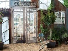 Kathy's Gorgeous Greenhouse From Old Windows