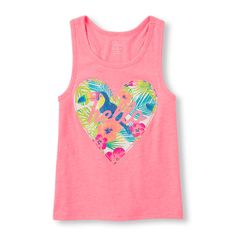 Image for Girls Sleeveless Summer Graphic Tank Top from The Children's Place