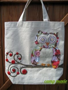 Items similar to NEW - Limited Edition Fall Owl on Branch Tote on Etsy