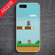 """""""Super Mario World""""Case for iPhone 4/4S, 5/5S, 6. Worldwide shipping. Store's url http://vk.com/market-71763847"""