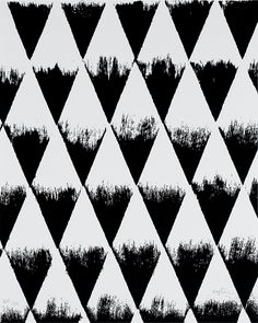 Black & white pattern with stamped triangles, geometric print design // Patrick Saytour Geometric Patterns, Textile Patterns, Abstract Pattern, Pattern Art, Geometric Shapes, Textile Prints, Print Patterns, Textiles, Monochrome Pattern