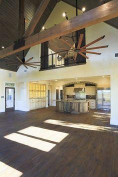 Diggin the barn door privacy panels for the master bedroom for Open floor plan metal homes