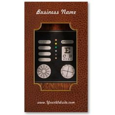Optometrist - Optical Confusion Business Card Templates by suburbanscenes