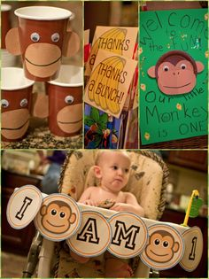 boy first birthday party monkey theme ideas | Monkey 1st Birthday Party & Printables! {Parties on a Budget}