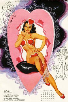 Happy Valentine's Day  (Bill Randall Illustration c. feb 54