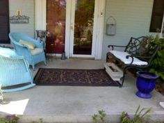 My front porch looked tired and worn after a long, cold winter. Let the makeover begin!
