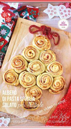 Albero di pasta sfoglia salato, un #antipasto per #Natale, facile e veloce, ideale anche come centro tavola. Con soli tre ingredienti, avremo uno #stuzzichino davvero irresistibile, fragrante e gustoso, che sarà una gioia per gli occhi e per il palato. #albero #pastasfoglia #xmax #nataleatavola #nataledafare #christams #ricetta #recipe #ricette #gialloblog #giallozafferano #capodanno #videoricetta #videorecipe #party #festa #antipati Antipasto, Xmax, Breakfast, Party, Food, Xmas, Morning Coffee, Essen, Appetizer