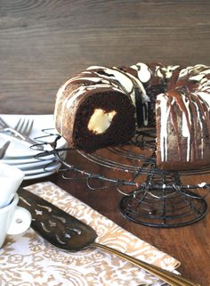 Chocolate Bundt Cake with Cream Cheese Filling