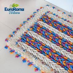 Tapete Ponto Trança de Crochê com EuroRoma