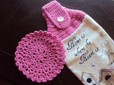 Crochet Towel Topper I want a whole set of these!!!!!