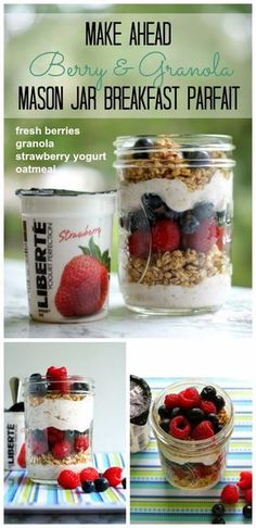 5 Make-Ahead Mason Jar Breakfast Parfait Recipes {with Publix Liberté Yogurt + Cash Giveaway}