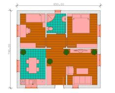 proiecte de case fara etaj cu 2 dormitoare Two bedroom single story house plans 4