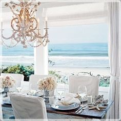 If I ever own a beach house, this would be an amazing dining room!