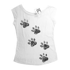 gattosa t-shirt handmade con zampette www.gattosi.com