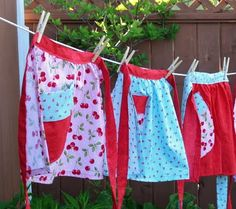 Aprons on the clothesline