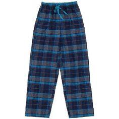 Navy and Blue Flannel Pajama Pants for Women L Nina Capri. $11.99