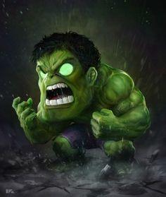 Chibi Avengers: The Hulk Marvel Dc Comics, Chibi Marvel, Bd Comics, Marvel Heroes, Marvel Avengers, Avengers Series, Avengers Wallpaper, Hulk Smash, Marvel Characters